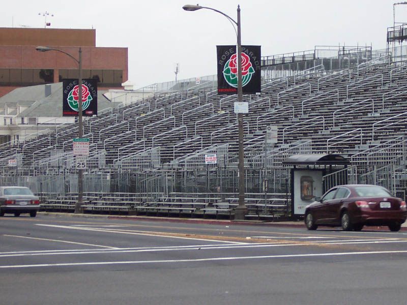 Bleachers And Grandstands At Pasadena Rose Parade